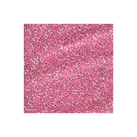 Miyuki Delica 11/0, Merítve festett ezüstközepű világos rózsaszín*, 5 g