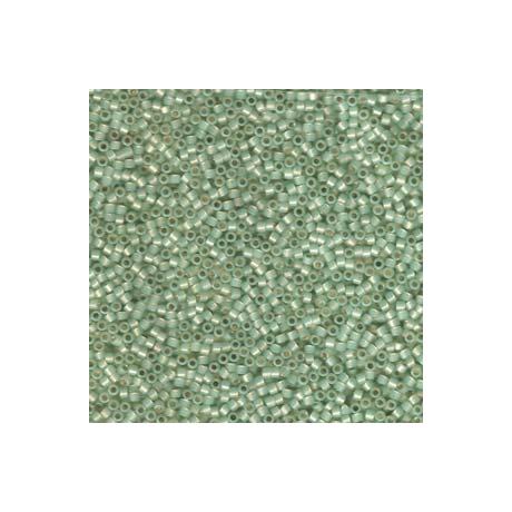 Miyuki Delica 11/0, Ezüst közepű világos moha opál, 5 g