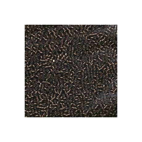 Miyuki Delica 11/0, Ezüstközepű barna, 5 g