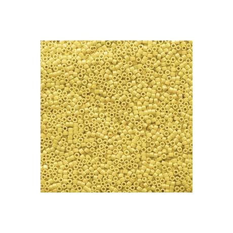 Miyuki Delica 11/0, Opak kanári sárga lüszter, 5 g