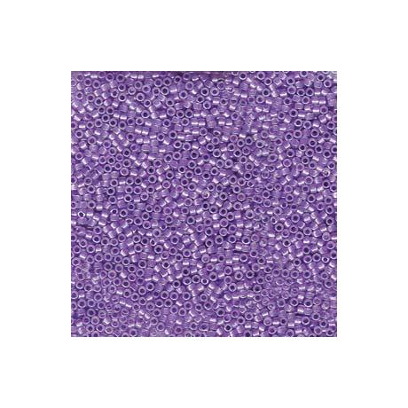 Miyuki Delica 11/0, Csillogó bíbor közepű opál AB, 5 g
