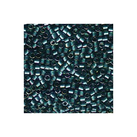 Miyuki Delica 11/0, Csillogó aquazöld közepű kékeszöld AB, 5 g