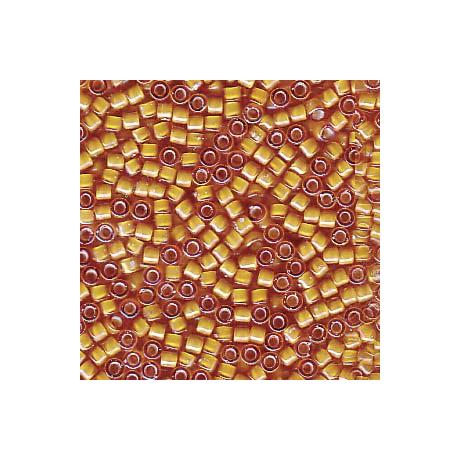 Miyuki Delica 11/0, Fehér közepű topáz AB, 5 g
