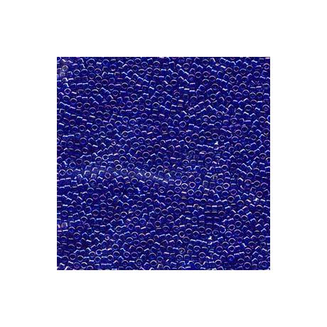 Miyuki Delica 11/0, Átlátszó zafírkék AB, 5 g
