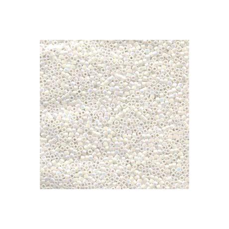 Miyuki Delica 11/0, Fehér gyöngyház AB, 5 g