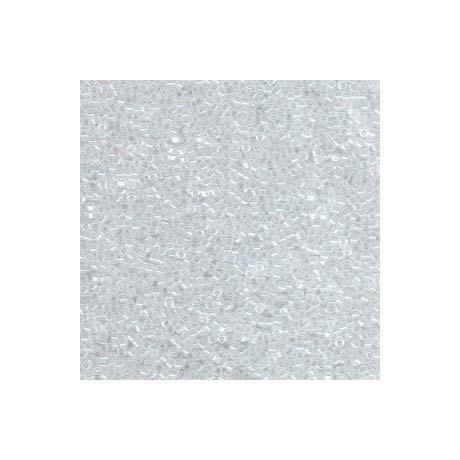Miyuki Delica 11/0, Fehér közepű kristály lüszter, 5 g