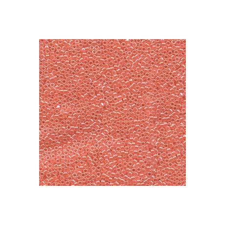 Miyuki Delica 11/0, Lazac közepű kristály lüszter, 5 g