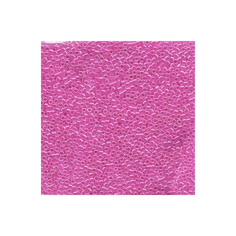 Miyuki Delica 11/0, Fukszia közepű kristály lüszter, 5 g