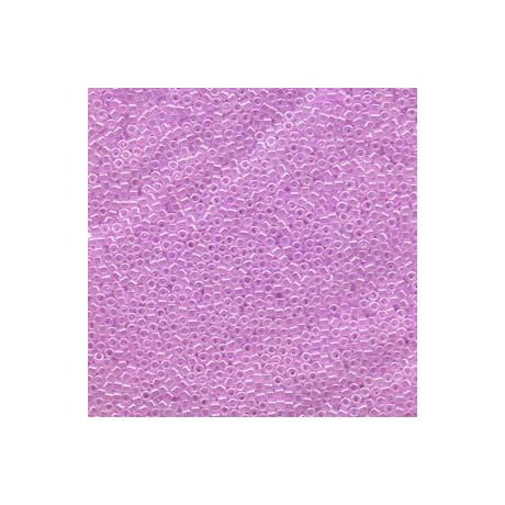 Miyuki Delica 11/0, Szinezett közepű kristály/ halvány lila, 5 g