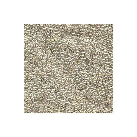 Miyuki Delica 11/0, Galvanizált ezüst, 5 g