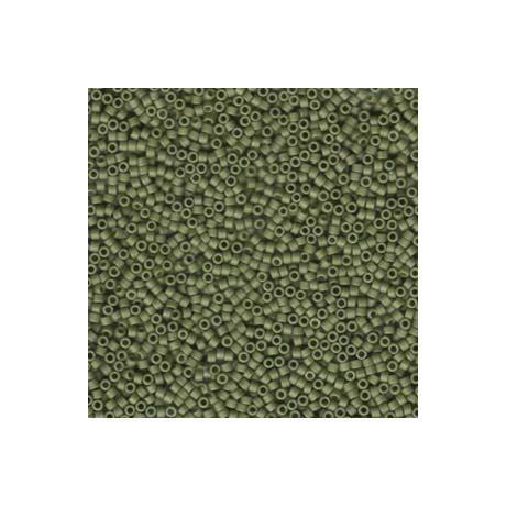 Miyuki Delica 11/0, Matt opak olive, 5 g