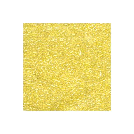 Miyuki Delica 11/0, Színezett közepű halvány sárga, 5 g
