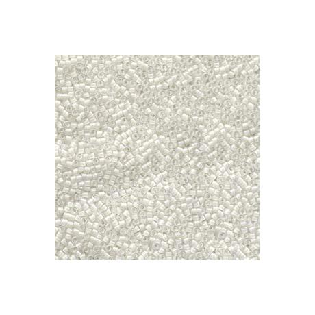 Miyuki Delica 11/0, Színezett közepű fehér AB, 5 g