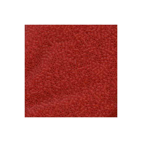 Miyuki Delica 11/0, Matt átlátszó világos piros, 5 g