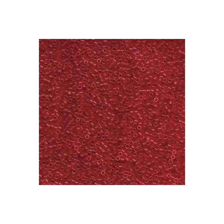 Miyuki Delica 11/0, Merítve festett matt, átlátszó piros*, 5 g