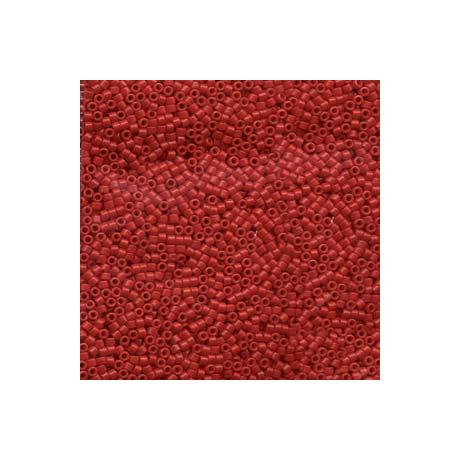Miyuki Delica 11/0, Merítve festett opak piros*, 5 g