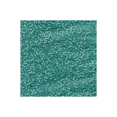Miyuki Delica 11/0, Csillogó türkiz közepű kristály, 5 g