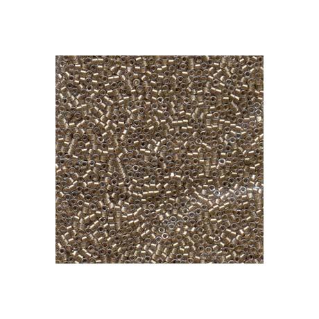 Miyuki Delica 11/0, Csillogó barna közepű kristály, 5 g