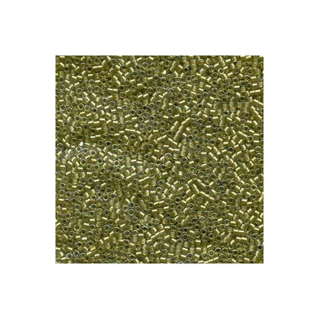 Miyuki Delica 11/0, Csillogó vil. Sárga közepű sárgás-zöld, 5 g