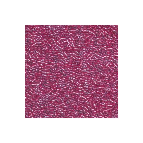Miyuki Delica 11/0, Csillogó sötét rózsaszín közepű kristály, 5 g