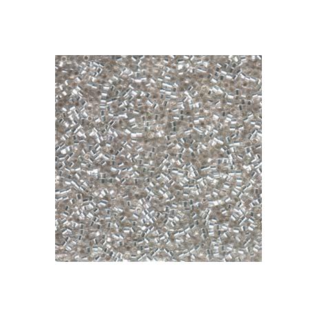 Miyuki Delica 11/0, hatszögű metszettel  DBC0041  Ezüst közepű kristály  5 g