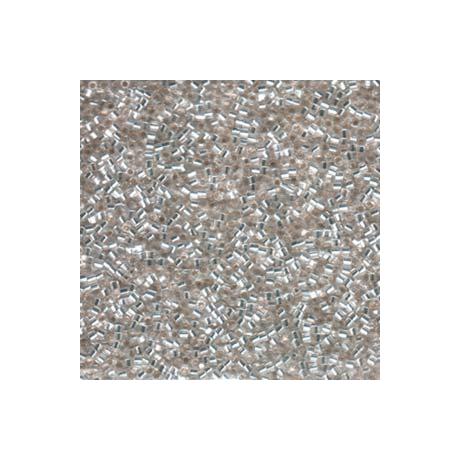 Miyuki Delica 15/0, Ezüst közepű kristály hatszögű metszettel, 2,5 g