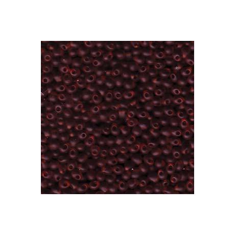 Miyuki Drop 3,4 mm   DP-9134F  Matt átlátszó sötét topáz  5g