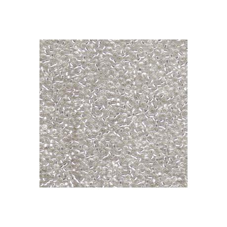 Miyuki kásagyöngy 11/0  11-91  Ezüstközepű kristály  5g