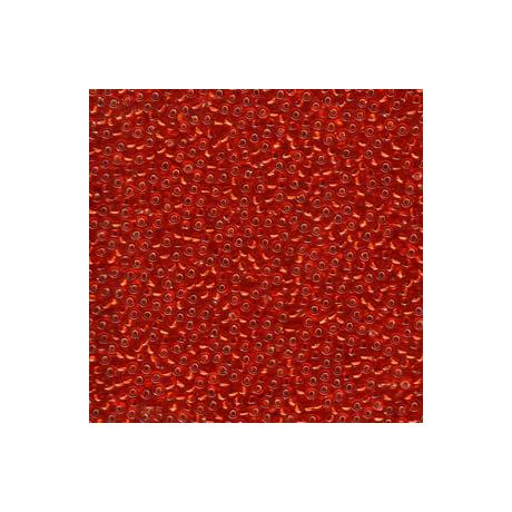 Miyuki kásagyöngy 11/0  11-910  Ezüstközepű piros  5g