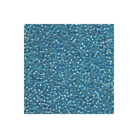 Miyuki kásagyöngy 11/0  11-91018  Ezüstközepű aqua AB  5g
