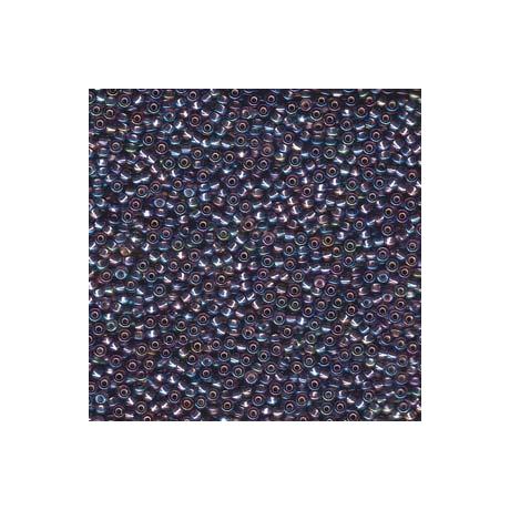 Miyuki kásagyöngy 11/0  11-91024  Ezüst közepű ametiszt AB  5g