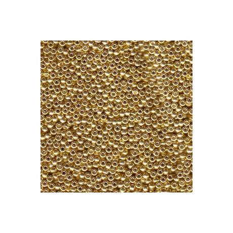 Miyuki kásagyöngy 11/0  11-91052  Galvanizált sárga arany*  5g