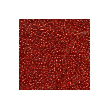 Miyuki kásagyöngy 11/0  11-911  Ezüstközepű rubin  5g