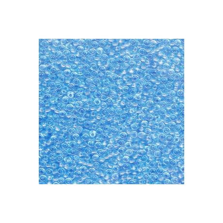 Miyuki kásagyöngy 11/0  11-9148  Átlátszó vil. Kék  5g