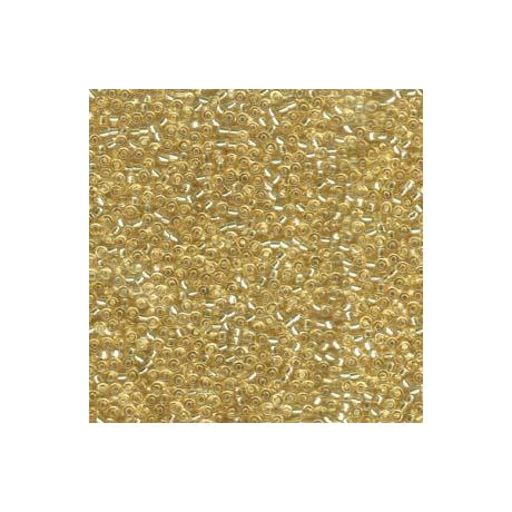 Miyuki kásagyöngy 11/0  11-92  Ezüstközepű halvány arany  5 g