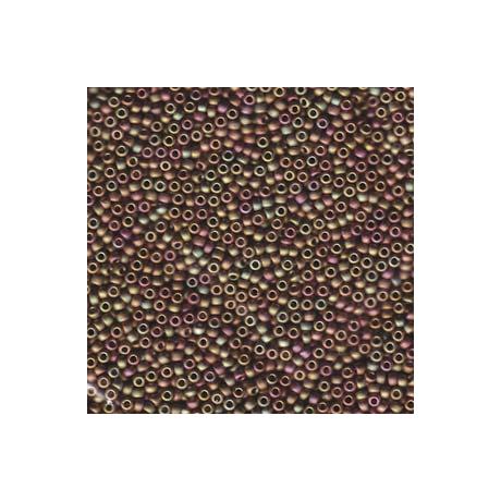 Miyuki kásagyöngy 11/0  11-92035  Díszes jeges mályva / olíva / rózsaszín  5 g