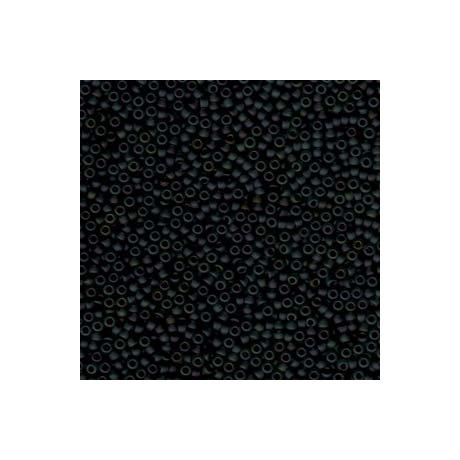 Miyuki kásagyöngy 11/0  11-9401FR  Matt fekete AB  5 g