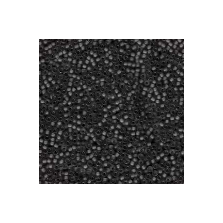 Miyuki kásagyöngy 11/0  11-9401SF  Félmatt fekete  5g