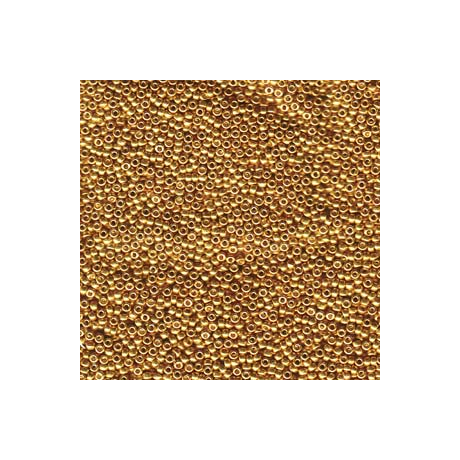 Miyuki kásagyöngy 15/0  15-91053  Galvanizált sárga arany*  5g