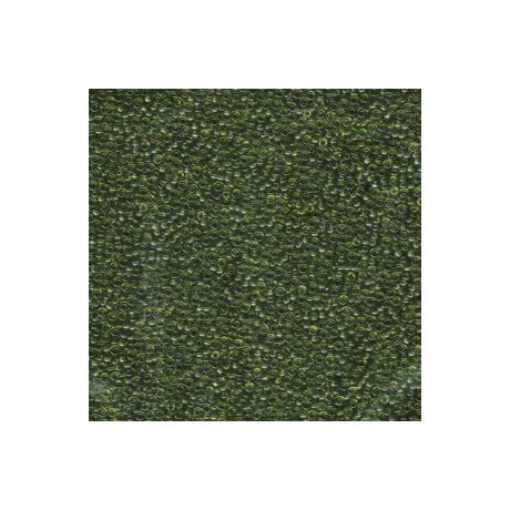 Miyuki kásagyöngy 15/0  15-9158  Átlátszó olajzöld  5g
