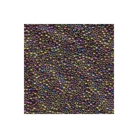 Miyuki kásagyöngy 15/0  15-9188  Metal bíbor/arany irizált  2,5g