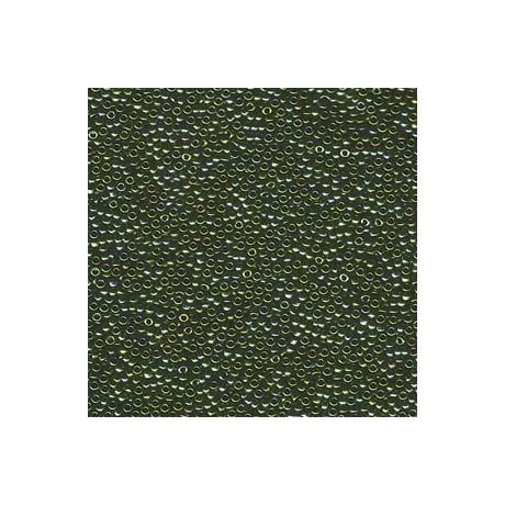 Miyuki kásagyöngy 15/0  15-92008  Matt metál zöld irizált  5g