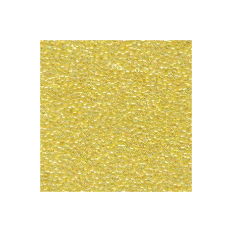 Miyuki kásagyöngy 15/0  15-9273  Színezett közepű halvány sárga  5g