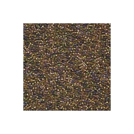 Miyuki kásagyöngy 15/0  15-93051  Színezett közepű metál arany/beige mix  5g