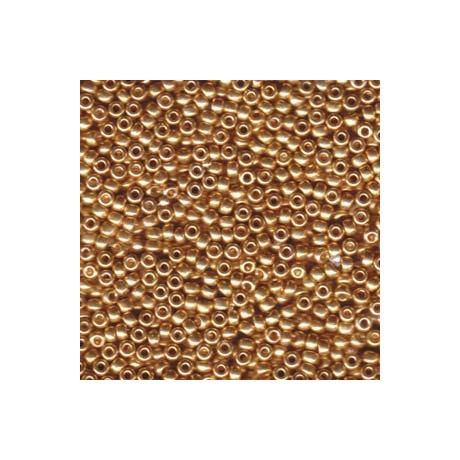 Miyuki kásagyöngy 8/0   8-91052  Galvanizált arany *  5 g