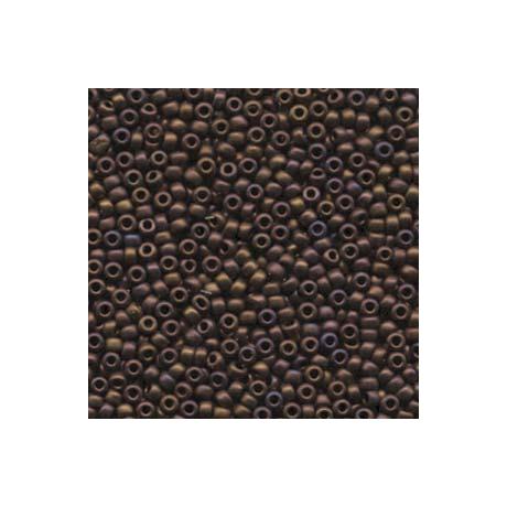 Miyuki kásagyöngy 8/0   8-92005  Matt metál sötét málna irizáló  5 g