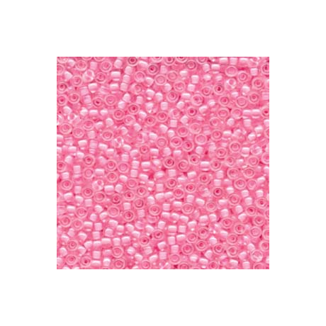Miyuki kásagyöngy 8/0   8-9207  Pink közepű kristály  5g