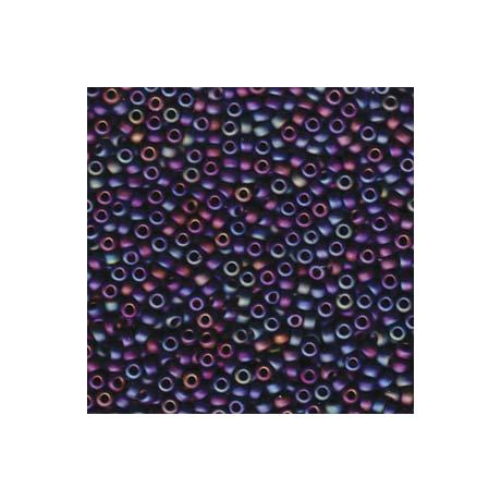 Miyuki kásagyöngy 8/0   8-9401FR  Matt fekete AB  5 g