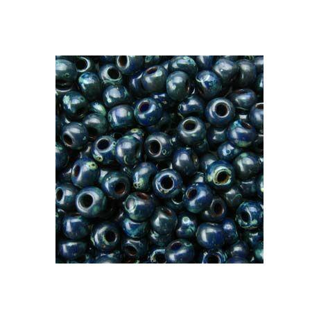 Miyuki kásagyöngy 8/0   8-94516  Matt montána kék picasso  5 g