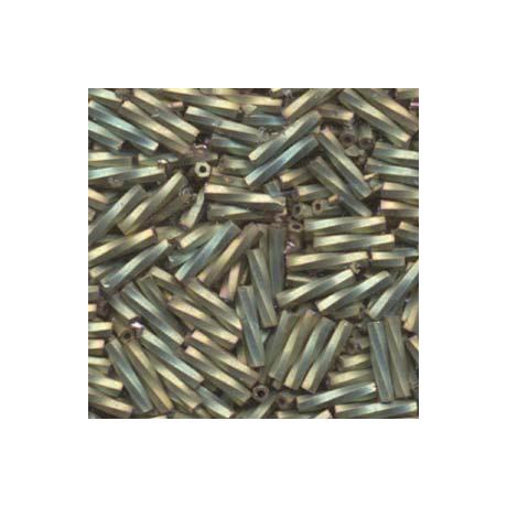 Miyuki szalmagyöngy 12 mm TW2712-2035  Matt metál keki irizáló  5 g
